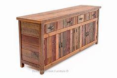 Custom Made Reclaimed Wood Sideboard