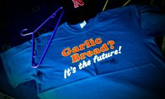 """Garlic Bread?"" ""It's the future!"" tee. Peter Kay t-shirt"