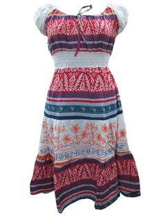 Vintage Dress Bohemain Dresses Long Cotton White Red Maxi Dress Trendy Fashion, Vintage Fashion, Red Maxi, Cotton Blouses, Hippie Chic, Vintage Dresses, Two Piece Skirt Set, Summer Dresses, Bohemian