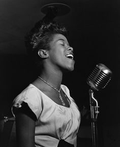 Legendary jazz singer Sarah Vaughan, born on Marech 27, 1924. Died April 3, 1990.