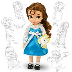 Disney Animators' Collection Belle Doll -- 16'' H