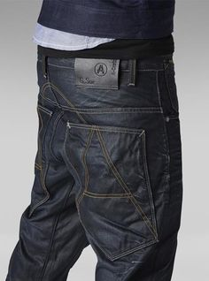 Discover the G-Star collections for men and get inspired. Raw Denim, Denim Jeans Men, Drop Crotch Jeans, Sagging Pants, G Star Raw Jeans, Casual Wear For Men, Patterned Jeans, Swagg, Denim Fashion