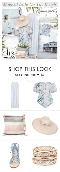 """Summer Date: The Beach"" by monazor ❤ liked on Polyvore featuring Mara Hoffman, Star Mela, Cornetti, Charlotte Russe, beach and summerdate"