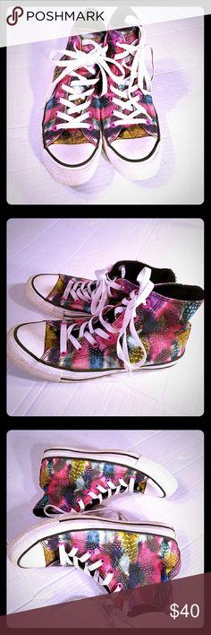 1ef9f5f8629e68 sz 7 Converse All Star Pink Feather Hi Tops Converse Chuck Taylor All Star  Feather Pink