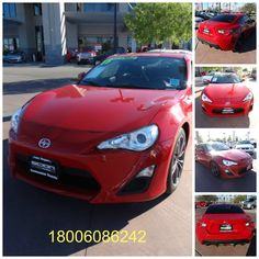 """Used car 2013 Scion FR- S Coupe for sell, Certified, Color red, Miles 38,608, Traction Control, AM/FM stereo, Stability Control, MP3 Single Disc, ABS 4 Wheel, Pioneer premium Sound, Air Conditioning, Bluetooth Wireless, Power Windows, Dual Air Bags, Power Door Locks, Side Air Bags, Cruise Control, F&R Head Curtain Air Bags, power steering, Daytime running Lights, Tilt & Telescoping Wheel, Alloy Wheels, 10 Series, Model Scion FR – S, Make Toyota """"Hablamos español"""""""
