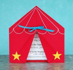 Circus tent invite