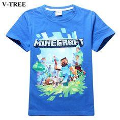 >> Click to Buy << V-TREE MineCraft T-shirt For Teenage Boy Summer Boys Cotton Shirts Teenagers Tops Children Tshirt Kids Short Sleeve Sweatshirts #Affiliate