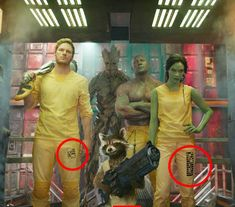 In Guardians of the Galaxy, the stripes on each of the prisoners' legs correspond to a crime they've committed, while the pattern explains the severity of each. Nick Fury, Bruce Banner, Pixar Movies, Marvel Movies, Steve Rogers, Thor Comic Book, Ultron Marvel, Amazing Fantasy 15, Captain America Shield