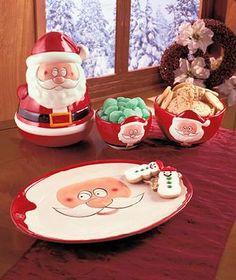 Santa Serveware Collection ( Jar & Platter )