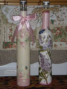 decoupage+bottles | Decoupage Bottle 2