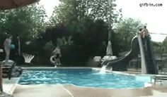 Swimming pool basketball team trick shots