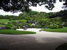 足立美術館庭園(島根) Japanese garden in Adachi Museum, Shimane, Japan