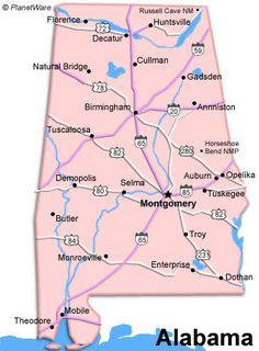 Alabama Map Maps Pinterest Rivers Alabama And County Seat - Birmingham al on us map