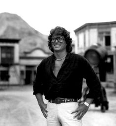 """Michael Landon directing """"Little House on the Prairie,"""" in """"Sleepy Eye."""" He used the set from Bonanza's Virginia City for Sleepy Eye Victor French, Joe Francis, Ingalls Family, Michael Landon, Laura Ingalls Wilder, Tv Westerns, Good Old Times, Anne Of Green Gables, Interesting Faces"""