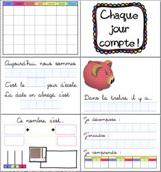 Chaque jour compte en CE2 ! Teachers Corner, French Immersion, Cycle 3, Language Activities, Teaching French, Math Classroom, Kids Learning, Kindergarten, Homeschool