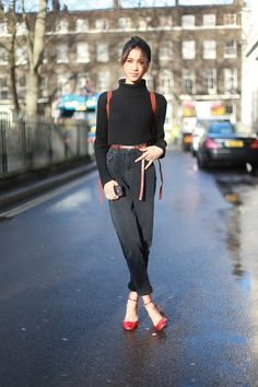Women's street style at the men's shows | Never Underdressed