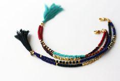 Beaded Tribal Bracelet  Friendship Bracelet  by feltlikepaper, $28.00