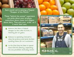 Ramon - picking and packing groceries for Peapod customers for over 10 years!
