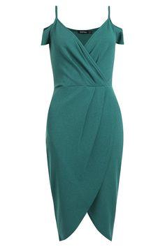 Melodie Cold Shoulder Crop Midi Dress