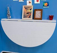 SoBuy Tavolo pieghevole a muro, tavolo pieghevole, tavolo da cucina, tavolo per cameretta in legno FWT10-W: Amazon.it: Casa e cucina