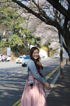 부산 달맞이길 벚꽃 나들이 미포철길 까지 - 안녕하세요 미례미입니다 부산 달맞이길 벚꽃 길 예쁜거 다들 ...