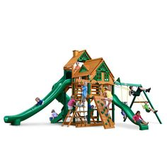 Gorilla Playsets Great Skye II Treehouse Swing Set with Timber Shield, $3400.00 - free shipping