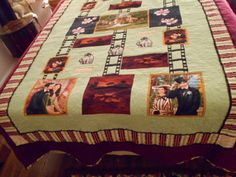 Images are thread painted for added texture. Thread Painting, Quilts, Texture, Blanket, The Originals, Bed, How To Make, Pattern, Home