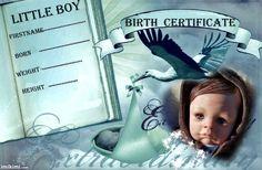 birth certificate (boy)