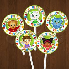 Daniel Tiger Cupcake Toppers, Daniel Tiger Birthday Party Printables- YOU PRINT on Etsy, $5.99