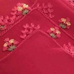 Needle lace, which is one of the most preferred traditional embroidery, continues to be transferred Thread Art, Needle And Thread, Knitted Poncho, Knitted Shawls, Viking Tattoo Design, Sunflower Tattoo Design, Needle Lace, Crewel Embroidery, Homemade Beauty Products