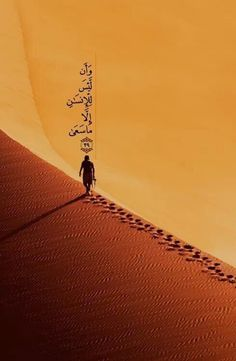 There is nothing for man, except for what he strives for. Chapter 53. Surah Najm. Verse 39.