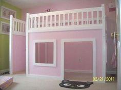DIY kids bed/playhouse for big girl room