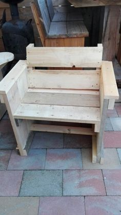 Steiger houten stoel