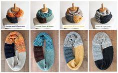 ☆毛糸蔵かんざわオリジナルキット423種の糸で編むスヌードヨークイエロー&レモングラス星野真美デザイン