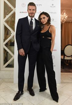 Dapper David: Beckham was on hand to support his wife who was co-hosting the event ...