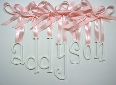 6 inch Hand Painted Wooden Wall  Nursery by woodwallletters, $13.58. Whimsical font.
