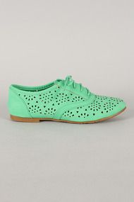 Galen-03 Perforated Lace Up Oxford Flat