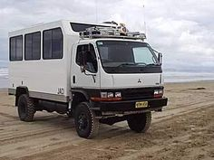 Australia's John Learoyd constructed this adventure camper. The single rear wheels are 225/100 R16 Michelin XZL. John also replaced the stock suspension with air bags and longer springs.