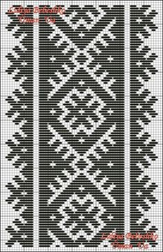 7.7. Схема фрагмента орнаменту для оздоблення розпірки - пазухи жіночої сорочки з Вінниччини, Східне Поділля.