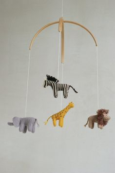 baby mobile jungle animals mobile safari mobile by Patricija