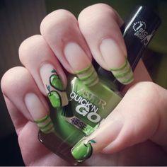 #nail #nails #nailart #summer #holidays #green #apple