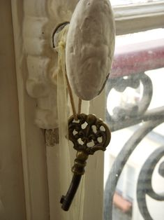 I hung the key to my heart on the door knob, but no one picked it up...
