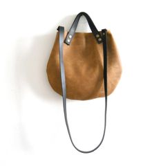 leather  basket bag Handbag Crossbody   door Smadars,