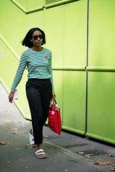 Chioma Nnadi via The Cut, Paris Fashion Week, SP'14.
