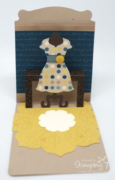 Stampin' Up! Stamping T! - Pop n Cuts Dress Form Open