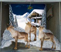 Decorating Garage Door With Cool Sticker Enjoy Your Chrismast Eve Saving Deer In Small Decal
