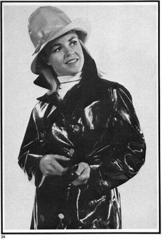 Love the hat Spy Mom, Black White Photos, Black And White, Latex, Pvc Raincoat, Raincoats For Women, Rain Wear, Unisex, Black Rubber