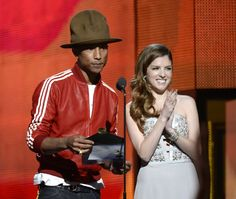 Pharrell Williams and Anna Kendrick present the Best New Artist GRAMMY on the 56th Annual GRAMMY Awards on Jan. 26 in Los Angeles