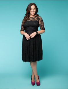 Luna Lace Dress | Lane Bryant want this dress for holiday parties... Bling it up please:-)