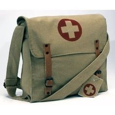 Carry around your stuff in these vintage medic messenger bags that real men used during battle; If this messenger bag worked for them in World War II, it can certainly carry around chap stick and other sissy items you haul around.